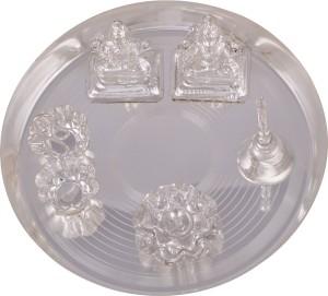 ellegent silver plated ganesh laxmi pooja plate 8