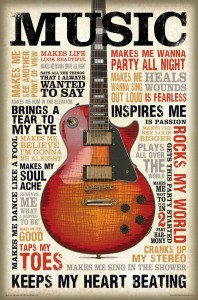 bCreative Music Inspires Me (Officially Licensed) Paper Print