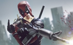 Deadpool Weapon Gun Blood Frameless Fine Quality Poster Paper Print