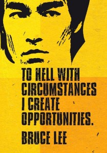 Seven Rays Bruce Lee - To Hell with circumstances (12x18) Small Poster Paper Print