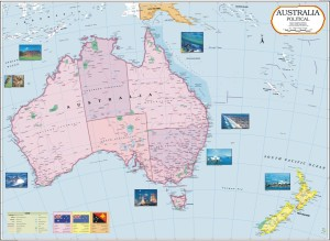 Map Of Australia Political.Australia Political Map Paper Print28 Inch X 40 Inch Rolled