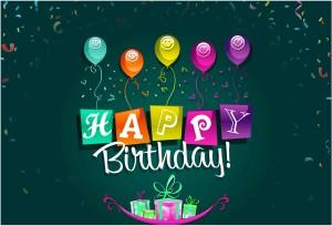 Happy Birthday Balloons Photographic Paper