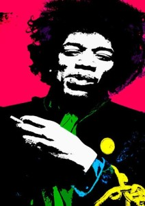 Jimi Hendrix Colors In Life A3 Cotton Canvas High Quality Printed Poster - Wall Art Print (Size : 11.7 X 16.5) , For Bedroom , Living Room, Kitchen, Office, Room Canvas Art