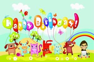 printelligent happy birthday celebration fridge magnets decorate