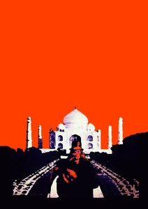 Slash In Taj Mahal A3 Cotton Canvas High Quality Printed Poster - Wall Art Print (Size : 11.7 X 16.5) , For Bedroom , Living Room, Kitchen, Office, Room Canvas Art