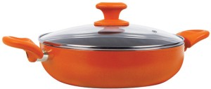 Prestige Ceramic Coated Curry with Glass Lid Pan 24 cm diameter