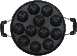 EAZYGRILL Non-Stick Design Appam Patra 12 cavity with handle Paniyarakkal
