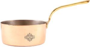IndianArtVilla Steel Copper Pot Pan Pan 13.72 cm diameter