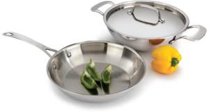 Alda 3 Ply Stainless Steel Gift Set Kadhai, Pan Set