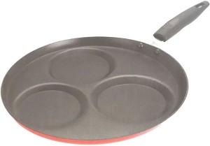 Kumkum Nonstick Set Dosa Tawa With Three Cavities Pan NA cm diameter