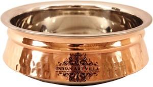 IndianArtVilla Steel Copper Induction Handi 0.9 L