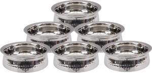 IndianArtVilla Set of 6 Stainless Steel Handi Handi 3.6 L