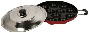 Lavelle Kitchen 12 Cavity Non-Stick Appam Patra Pan 23 cm diameter