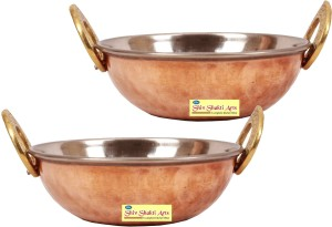 SSA set of 2 copper kadai no 2 Kadhai 1 L