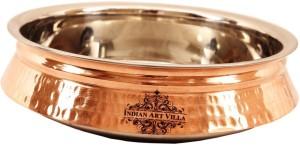 IndianArtVilla Steel Copper Induction Handi 2 L