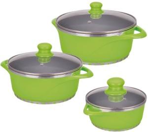 Wonderchef Ceramide Cook & Serve Casserole Set Pot Pot 2.25 L, 1.25 L, 4 L