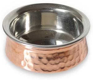 Prisha India Craft Copper Hyderabadi Bowl Handi 0.55 L