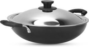 Pigeon Non Stick with SS Lid 300 mm Kadhai 3 L