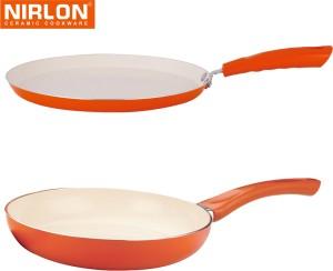 NIRLON Cooking Ceramic Non Stick Induction Tawa, Pan Set