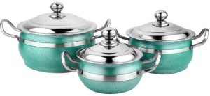 Mahavir Pack of 3 Casserole Set