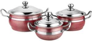 Mahavir Pack of 3 Casserole Set