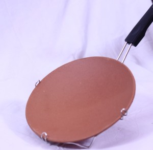 AND Designs Handmade Tawa mae of clay for authentic and treditional taste Tawa 20 cm diameter