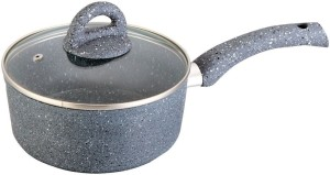 Wonderchef Granite Sauce Pan with Lid 16cm Pot 1 L