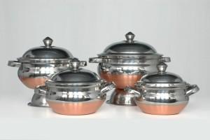 Navkar Copper botttom cook and serve Handi 0.5 L, 1 L, 1.5 L, 2 L