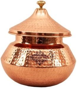 IndianArtVilla Steel Copper Serving Punjabi Handi 2.25 L