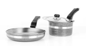 Mahavir Metallic Kadhai, Pan Set