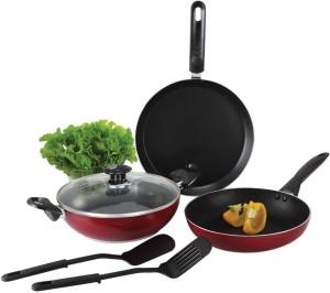 Alda NS Cookware Gift Glass Lid Tawa, Pan Set