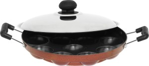 Orange Appam Patra with SS lid Kadhai NA L