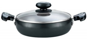 Prestige Hard Anodised with Glass Lid Pan 20 cm diameter