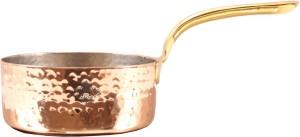 IndianArtVilla Steel Copper Hammered Pot Pan Pan 11.18 cm diameter