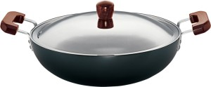Hawkins Futura Hard Anodized Deep-Fry Pan 7.5 L 360 mm Kadhai 7.5 L