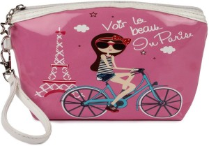 Uberlyfe Pink with Eiffel Tower Multipurpose Pouch