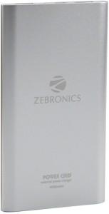 Zebronics Power Bank Pg 40 4000 Mah Power Bank Silver Lithium Ion