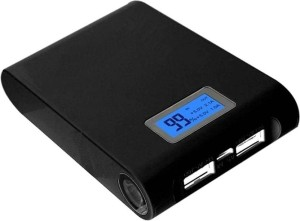Stonx 2.1A Stylish Black Portable Powersupply 10400 mAh Power Bank