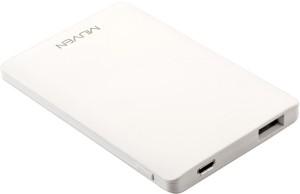 Muven X-6_White Ultra Slim Portable Charger 3000 mAh Power Bank