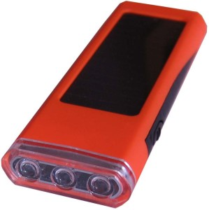 NP Plastics NP00076 Solar Panel External Battery mini USB Phone Charger Led Torch 1000 mAh Power Bank