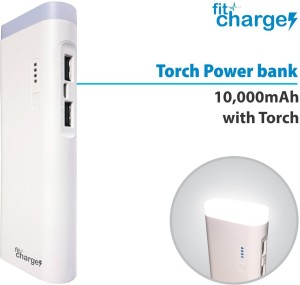 Fitcharge Torch-10 Fitpower With LED Torch 10000 mAh Power Bank