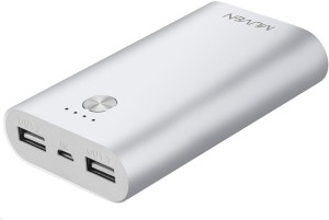 Muven M300-Silver Portable Charger 7800 mAh Power Bank