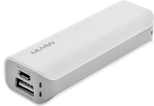 Muven E100_White Portable Charger 2600 mAh Power Bank