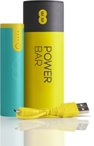 Axcess EE1 portable mini smartphone EE POWER BAR 2600 mAh Power Bank