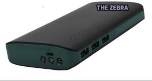 THE ZEBRA EST-001-XY-039 PREMIUM HARD TOUGHENED TRIPLE PORTABLE 2.1Amp POWERBANK WITH TORCH 20000 mAh Power Bank