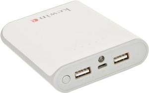 Kewin PB-004-WT-10400- Portable External Battery Charger Dual Output For Smartphones Support Lightning Input 10400 mAh Power Bank