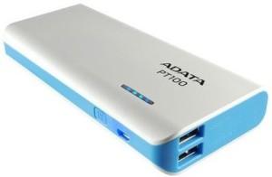 ADATA 10000 mAh Power Bank (PT100 White-Blue, Adata PT100)