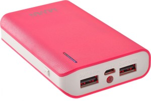 Muven E400i_Pink Portable Charger with Torch 10400 mAh Power Bank