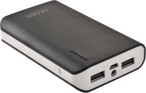Muven E400i_Black Portable Charger with Torch 10400 mAh Power Bank