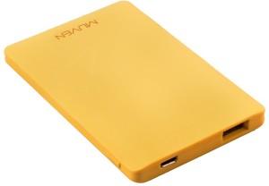 Muven X-6_Yellow Ultra Slim Portable Charger 3000 mAh Power Bank